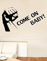Come On Vinyl Quote Wallstickers Home Decor Living Room Creative Mural Removable Wallsticker For Decoration