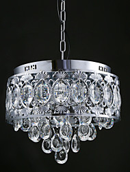 Elegant Modern Transparent Crystal Chandelier with 4 Lights