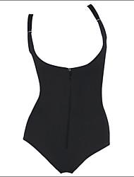Ženy Korzet / Větší velikosti Noční prádlo Jednobarevné-Bavlna / Další / Polyester / Spandex / Modal Černá Dámské