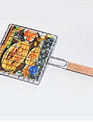 Churrasqueira pega carne cesta de churrasco assado de aço alimentos ferramenta de peixes
