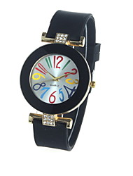 Women's Ladies Fashion Geneva Silicone Watches Quartz Watch Silicone Band Cool Watches Unique Watches
