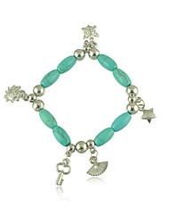 The New Bohemia Turquoise Beaded Key Sector Star Elements Bracelet