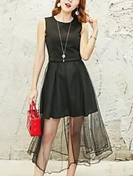 Women's Simple Design Mesh Summer Vest Dress