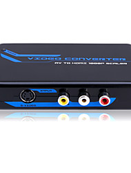 Composite and S-video to HDMI Converter Scaler (720P/1080P) with CE FCC ROSH Certificates