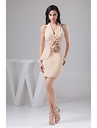 Cocktail Party Dress Sheath/Column Halter Short/Mini Chiffon
