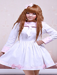 Steampunk®Cotton Pink And White Sailor Bow Cotton School Lolita Dress