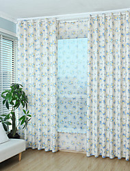 Two Panel Korean Classic Jacquard Printing Style  Of The Sitting Room The Bedroom Of Children Room Curtain