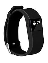 tw64s hr pulsera de la frecuencia cardíaca deporte, bluetooth 4.0 reloj inteligente (color clasificado)