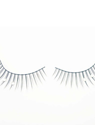 Cool Flower Black Natural False Eyelashes / Rhinestone (Pair)