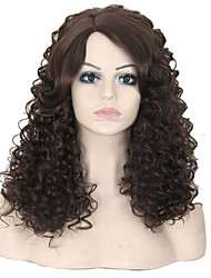 Fashion Synthetic Wigs Brown Color Curly Style Synthetic Wigs