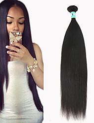 """1 pc / lotto 12 """"-30"""" estensioni dei capelli capelli vergini brasiliani dritti umani al 100% i capelli non trattati remy brasiliani tesse"""