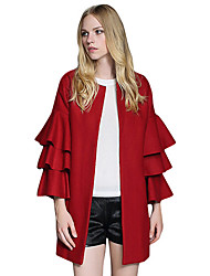 Manteau Aux femmes Manches ¾ Street Chic Nylon