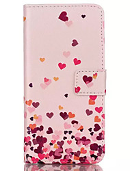 Pink Love Figure Design Embossed PU Leather Wallet Case for IPhone 6 Iphone 6S
