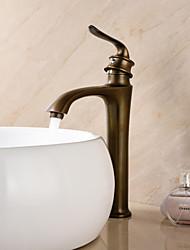 Antique Montage Mitigeur un trou in Laiton Antique Robinet lavabo