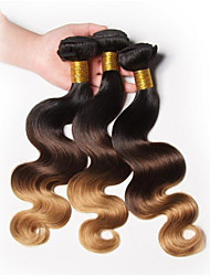 Halloween 3 Pieces Body Wave Human Hair Weaves Peruvian Texture Human Hair Weaves Body Wave
