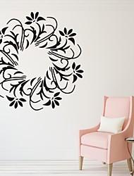 Романтика / Мода / Цветы Наклейки Простые наклейки,PVC S:35*35cm/ M:42*42cm L:55*55cm