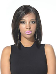 "Glueless Straight Human Hair Bob Wig 12"" For Black Women Short Cut Mono Front Human Hair Wigs"