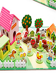 3D Pincha Farm Building System For Children Drawing Three-Dimensional Sssembled Toys
