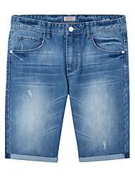 Meters/bonwe Men's Shorts / Jeans Pants Light Blue-255176