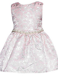 Girl's Gold / Pink Dress Polyester Summer / Spring