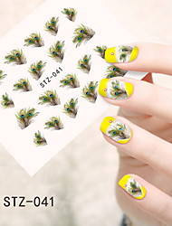 1pcs  Water Transfer Nail Art Stickers Sexy Lace Feather Lovely Panda Nail Art Design STZ41-45