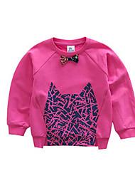 Girl's Hoodie & Sweatshirt,Cotton Winter Blue / Red