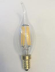 1 Stück kwb E14 5W / 6W 6 COB 600 lm Warmes Weiß C35 edison Vintage LED Glühlampen AC 220-240 V
