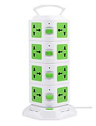 вертикальной мульти-розетка с USB многофункционального творческого куба вставляется ряд восемь отверстий интеллектуальные мощности