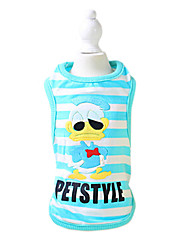 Dog Shirt / T-Shirt Yellow / Blue Dog Clothes Summer Fashion