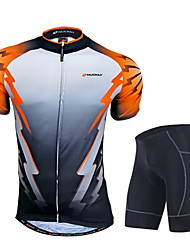 NUCKILY Bike/Cycling Jersey + Pants/Jersey+Tights / Clothing Sets/Suits Men's Short SleeveBreathable / Moisture Permeability / Front