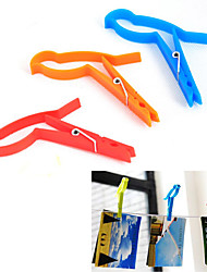 Bird Shaped Food Tong Portable Clips Portable Pegs, Set of 2(Random Color)