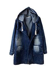 Manteau Aux femmes Manches Longues Street Chic Nylon