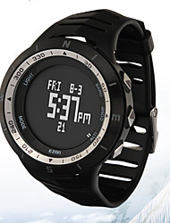 Sports Watch Men's / Ladies' / UnisexLCD / Altimeter / Compass / Pulse Meter / Calendar / Chronograph / Water Resistant / Dual Time Zones