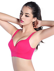 Young Ladies's Sports Full Coverage Bras,Wireless/Padded Bras/Sports(Yoga&Running) Bras Nylon for Size S/M/L/XL