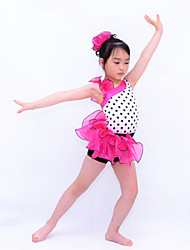 Kids' Dancewear Leotards Women's / Children's Performance Organza / Lycra Ruffles Sleeveless Natural