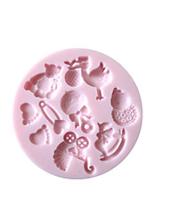 3D Baby Fondant Cake Mold,Food-grade Silicone Mold ,Chocolate Candy Soap Mold,Bakeware(Random Color)