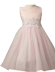 Girl's Dress,Polyester Summer Blue / Pink / White / Yellow