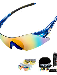 Cycling Glasses Set UV400 5 Lens Sports Rimless Sunglasses Eyewear Goggles