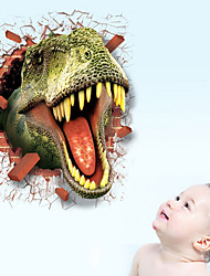 3D Wall Stickers Wall Decals Style New Dinosaur Waterproof Removable PVC Wall Stickers