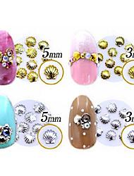 100pcs-Gioielli per unghie / Glitter-Adorabile-Dito / Dito del piede- diMetallo-5*3*1