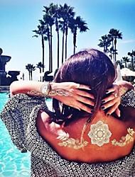 -Tattoo Aufkleber-Non Toxic / Halloween / Große Größe / Hawaiian / Unterer Rückenbereich / Waterproof / Metallic / 3-D / Spitze-Totem