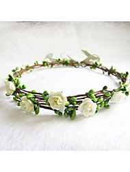 Floral Crown, Ivory Flower Headband, Floral Head Wreath, Wedding Headband, Bridesmaid Flower Crown, Flower Girls Flow