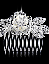 soulignant la mariée perles peignes de coiffure peigne couronne en alliage bijoux de mariage mariée