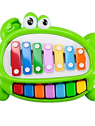 Hand Piano Plastic Green Music Toy For Kids