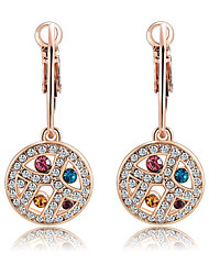 Earring Drop Earrings Jewelry Women Gemstone & Crystal / Rose Gold Plated 1pc Silver / Rose Gold