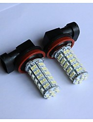 H1/H3/H4/H7/H8/H11/9005/9006 1210-68SMD   Car Fog Light White Blue Red Yellow