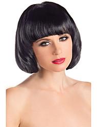 монолитным 100% человеческих волос сторона бобо прямой парик Wiht челки