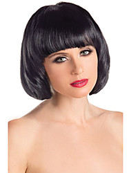 Capless 100% Human Hair BOBO Straight Wig wiht Side Bangs