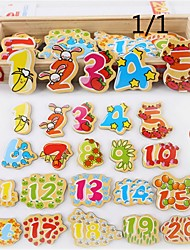 Early Childhood Cartoon Wooden Stick Stick Magnetic Letters Digital Sketchpad Kindergarten Teaching Aids