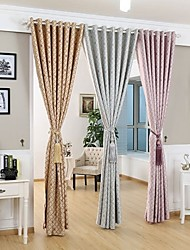 Two Panels Modern Stripe Living Room Polyester Blackout Curtains Drapes